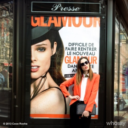 Glamour and I are in agreement - we are all about orange for Spring 2013. View more Coco Rocha on WhoSay