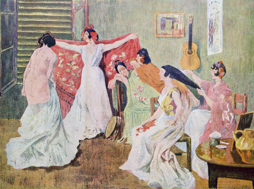 zombienormal:  Toilette of the Dancers, Alexandre Lunois, Jugend magazine, 1921. Via.