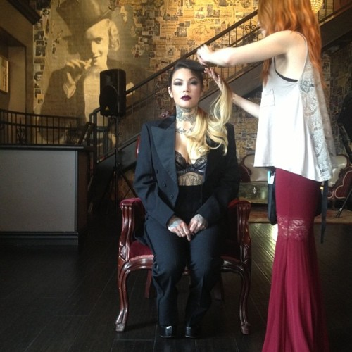 #photo by @ashaefia me doing @jennalikewhoaa's hair for her second look (at Commonwealth)