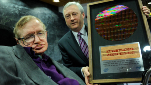 Stephen Hawking to receive a voice upgrade, thanks to Intel     The chipmaker is designing a new system to help Hawking communicate up to five words a minute.