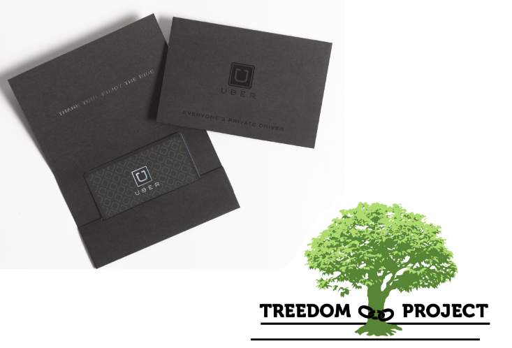 treedomproject:  The very nice people at Uber have donated $20 gift cards to The Treedom Project. Anyone who Reports-A-Tree will not only receive a free Treedom Project sticker, but also a $20 gift card from Uber. This means you can take a free ride to your tree (or anywhere else Uber services) in a stylish car from Uber. Which is actually even more convenient now that they've been cleared by the New York City Taxi and Limousine Commissions to also include yellow taxis in their fleet.  Thank you Uber  THIS IS AWESOME!