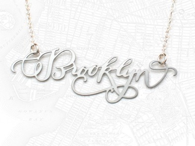 Brooklyn Calligraphy Necklace by Brevity.