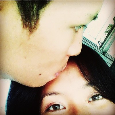 Sweetest kiss! #throwbackThursday#couple#love#kissontheforehead#mwah @alvinjamora
