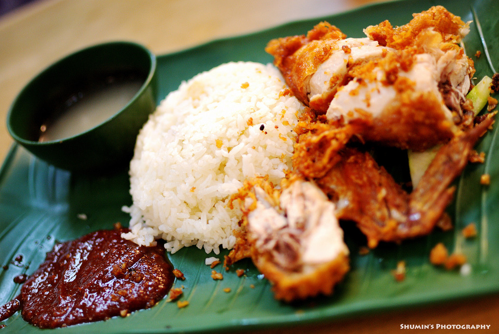 shelovesasianfood:  Nasi Ayam Goreng (by Y-Shumin)