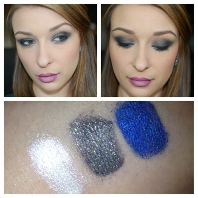 "Here is a gorgeous look by @aliciad372 featuring the ""Born of Illusion"" collection in collaboration with @teribrownwrites due out May 15th. Swatches are done under ""Foil Me"" and taken with flash."