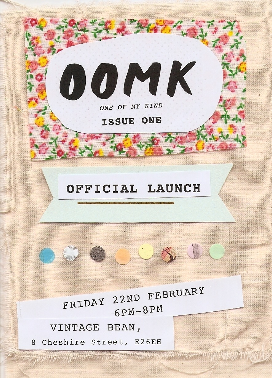 We are very pleased to announce that OOMK Zine is finally here!  One of My Kind is a highly visual, handcrafted small-press publication. Our content largely pivots upon the imaginations, creativity and spirituality of women.  OOMK contains articles, interviews and artwork from a diverse range of emerging creative and activist artists, bloggers and writers. The founders of OOMK are particularly interested in highlighting the work and creative practices of women, who like them selves, are Muslim. The goal of the publication is to promote creativity and to recognise and highlight the thoughts and opinions of interesting and inspirational women.   To celebrate we will be having an official launch on Friday 22nd February from 6-8pm at Vinatge Bean, just off Brick Lane. At the launch there will be an exhibition of work from the zine and also the opportunity to purchase a copy.  Vinatge Bean,8 Cheshire Street,London,E2 6EHClosest Station: Shoreditch High Street www.facebook.com/events/422623244482025/ Everyone is welcome! Sabba, Sofia and Rose xx