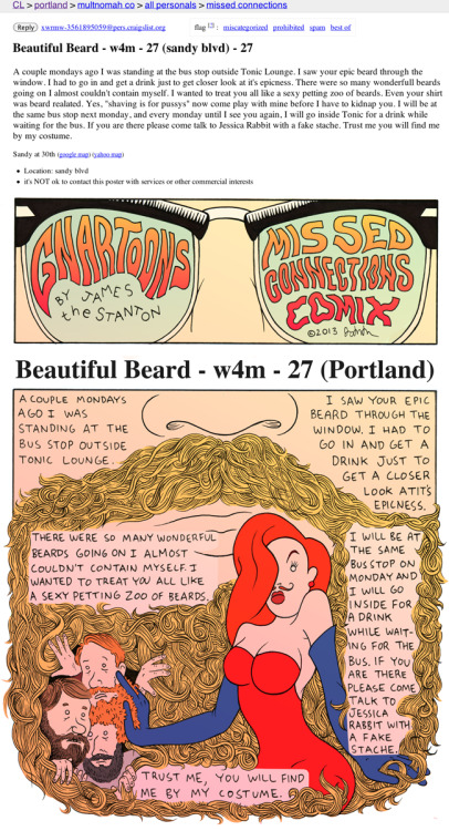 gnartoons:  Missed Connections Comix: Beautiful Beard