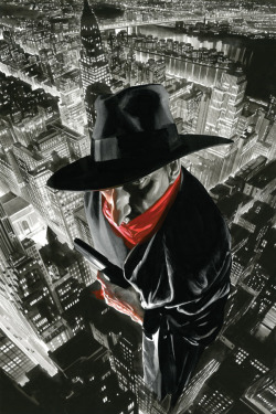 brianmichaelbendis:  The Shadow #12 cover by Alex Ross
