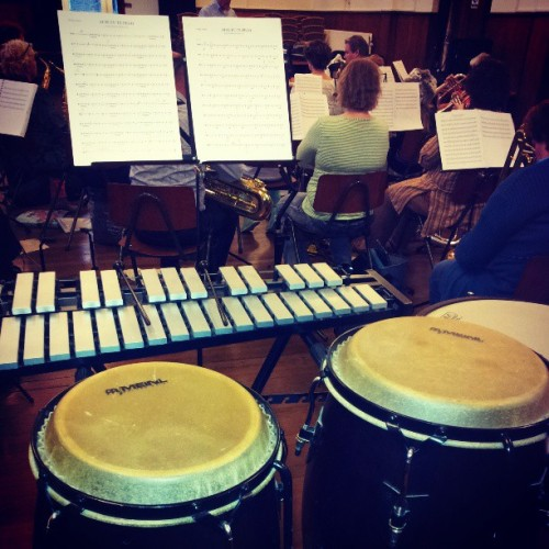 Playing conga's and mallets… #doubletime