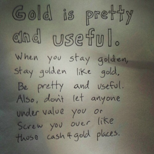 chuckhistory:  Stay Golden.