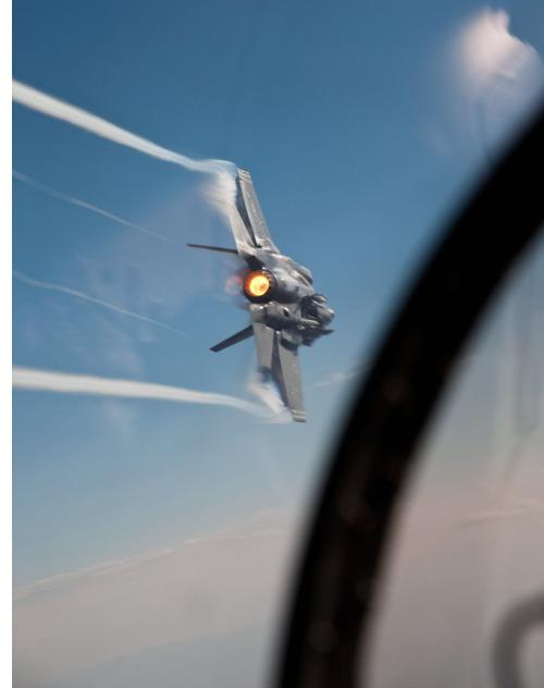 F-35 AF-1 over Edwards AFB