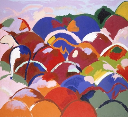 A colorful work from the collection for a dreary NYC morning… Menashe Kadishman, Untitled, 1981