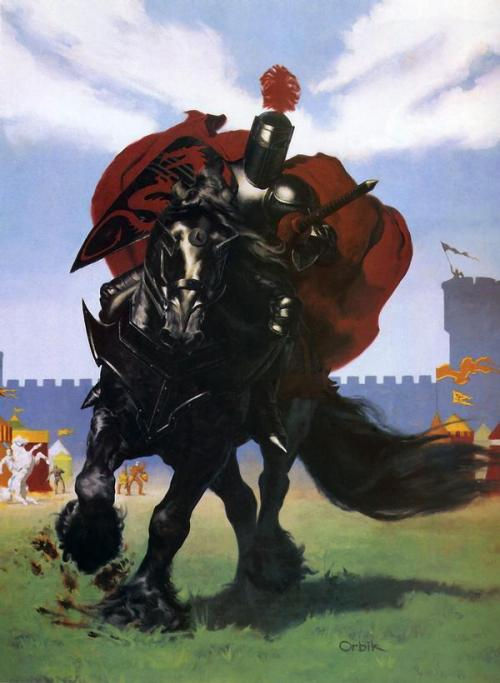 brudesworld:  The Black Knight by Glen Orbik Dungeons & Dragons: Sword and Shield