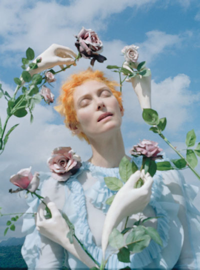 """Stranger than paradise"" - Tilda Swinton by Tim Walker for W, May 2013"
