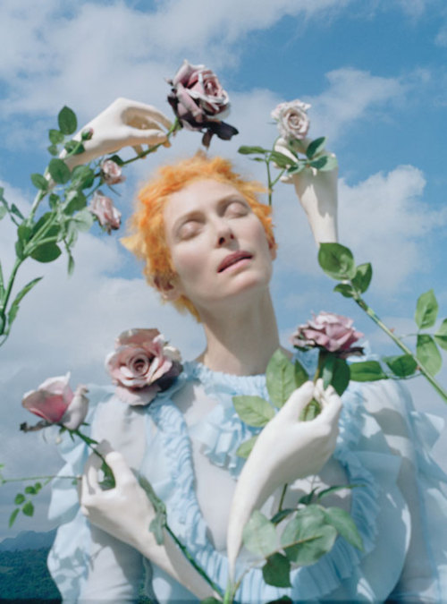 (via 'Stranger Than Paradise' Tilda Swinton by Tim Walker for W May 2013 2)
