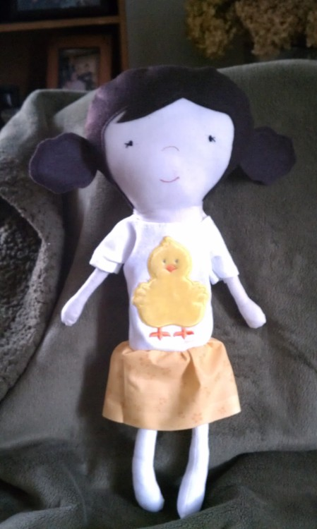 "A doll I made for my sister's birthday. We've called each other ""chick"" for as long as I can remember."