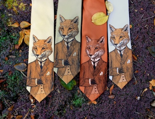 nodoubtnat:  soulpowwerz:  Fantastic Mr Fox ties.   I need these