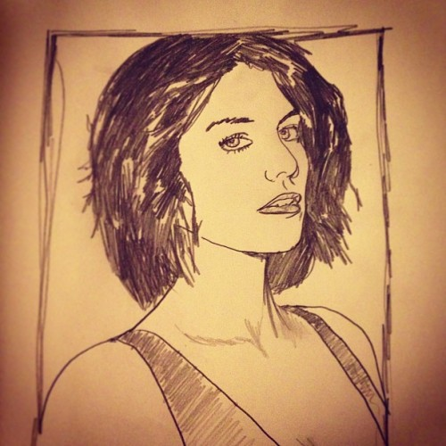 "#sketchaday - Day 327: ""Cohan"" #portrait #LaurenCohan #Maggie #walkingdead @amcthewalkingdead"