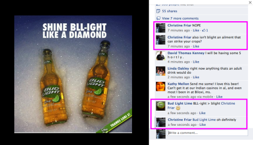Lindsey showed me this thing on Bud Light Lime's fb page and then this happened.