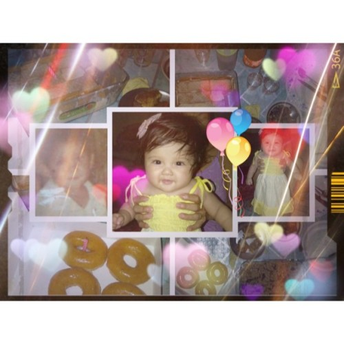 Happy 6 months birthday sofia belle and to her daddy @benjiebarnes thank you! iloveyou both so much! mwah!