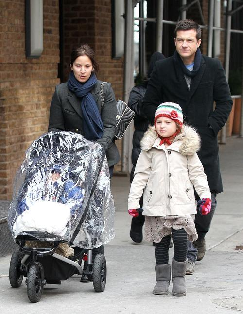 Jason Bateman and family out in NYC.