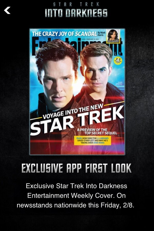 Chris Pine - Star Trek Into Darkness @ew cover with Benedict Cumberbatch & Chris Pine