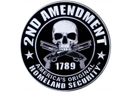 biker-patches:  2nd amendment 1789 skull