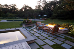 Hoerr Schaudt Landscape Architects designed this gorgeous garden featured in LUXE magazine. In fact, it made the front cover. Congratulations, you guys!