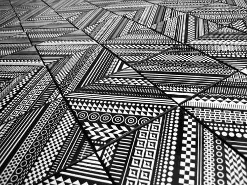 Patterned ceramic tiles by Matt W. Moore.