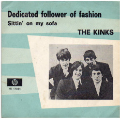 "The Kinks ""Dedicated Follower Of Fashion"" / ""Sittin' On My Sofa"" Single - Pye Records, Holland (1966)."