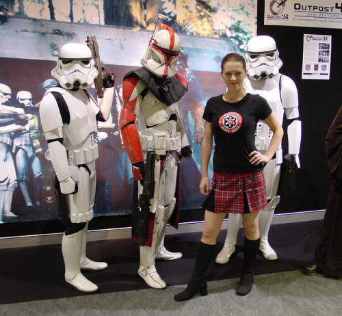 Kristy with 501st Legion troopers on Flickr.