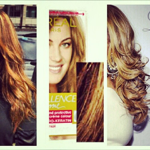 the new hair color has been decided!! #excited #newhair #hairdye #loreal #lightbrown #darkgoldenblonde #blonde #brown #hooligans