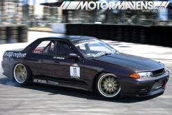 Ian Fournier's #R32 #Nissan #Skyline #4door from #DriftSafari! (via PERSPECTIVE> Comrades Invade Formula D Seattle! – MotorMavens | Car Culture and Photography)