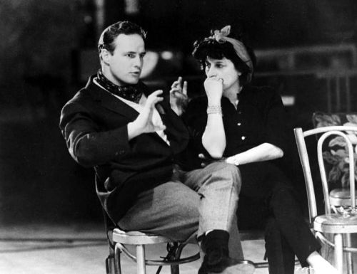 Marlon Brando and Anna Magnani during rehearsals for The Fugitive Kind