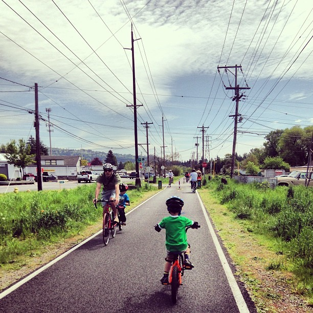 Saturday cycle (at Springwater Corridor - Foster)