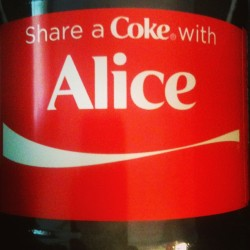 Found my name! #coke #Alice #drink