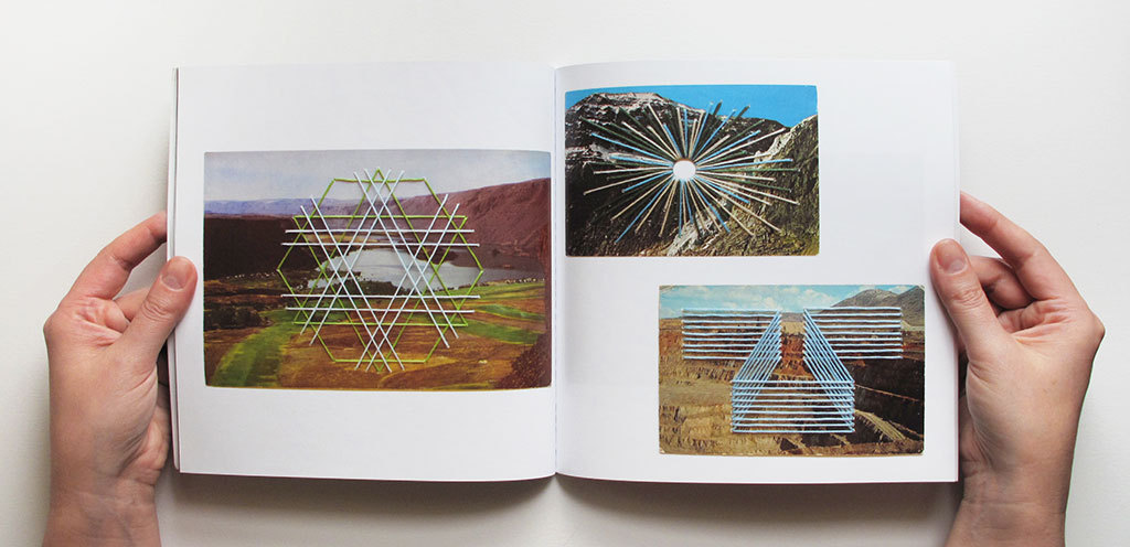 "shaunkardinal:  New book now available!  Connotations + Other Works, 2012Catalog of 75 hand-embroidered vintage postcards and collages generated by Seattle-based artist Shaun Kardinal in 2012. 60 pages, 80# stock, perfect-bound, 8 x 8"" Only $25"