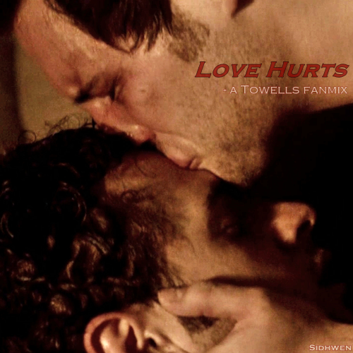 Love Hurts - a Towells fanmix  listen  |  download (password for unzipping: lovehurts) Interpol - Slow Hands  Talking Heads - Psycho Killer  Echo & The Bunnymen - The Killing Moon   Sia - Breathe Me Ed Sheeran - Someone Like You (Adele cover)   Interpol - No I In Threesome  (*) Panic! At The Disco - Let's Kill Tonight Incubus - Love Hurts Bush - Glycerine Adele - Lovesong (The Cure cover) (*) song got removed from 8tracks but the download includes it