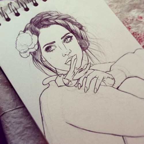 dollychops:  Lana Del Rey VII (unfinished)