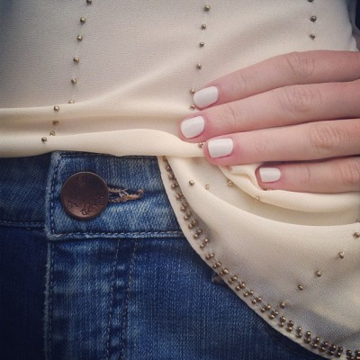 "Natural length #White nails are so in for #spring13!! My favorite? @rgbcosmetics ""White"" @nailinghwood"