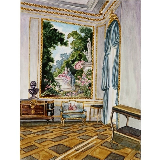 #regram of another one off #decadent #interior #paintings for my day of #rooms. This one was #inspired by the #f