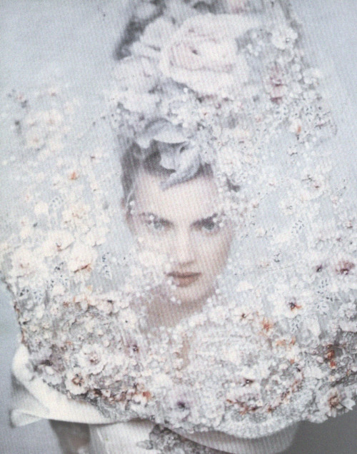 deprincessed:  Guinevere Van Seenus wearing Christian Lacroix Haute Couture shot by Paolo Roversi in 1996