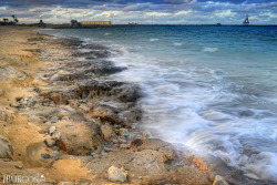 """waves and sounds"" - the Mediterranean sea at Libya Steel Company Beach Resort. This was taken during the start of winter (October, 2012). Misurata, Libya. HDR photo via manual bracketing with 3 exposures -1/0/+1 f14 iso100 1/3sec 18mm"