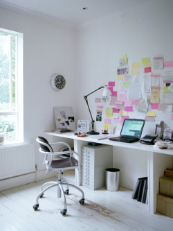 myidealhome:   post-it (via iVillage)