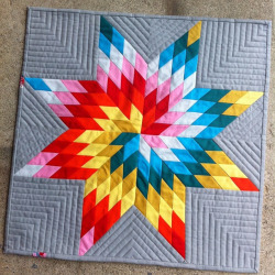 Done! Off to my swap partner somewhere…. #nofilter #fablittlequiltswap #lonestar #konasolids by upstatelisa on Flickr.