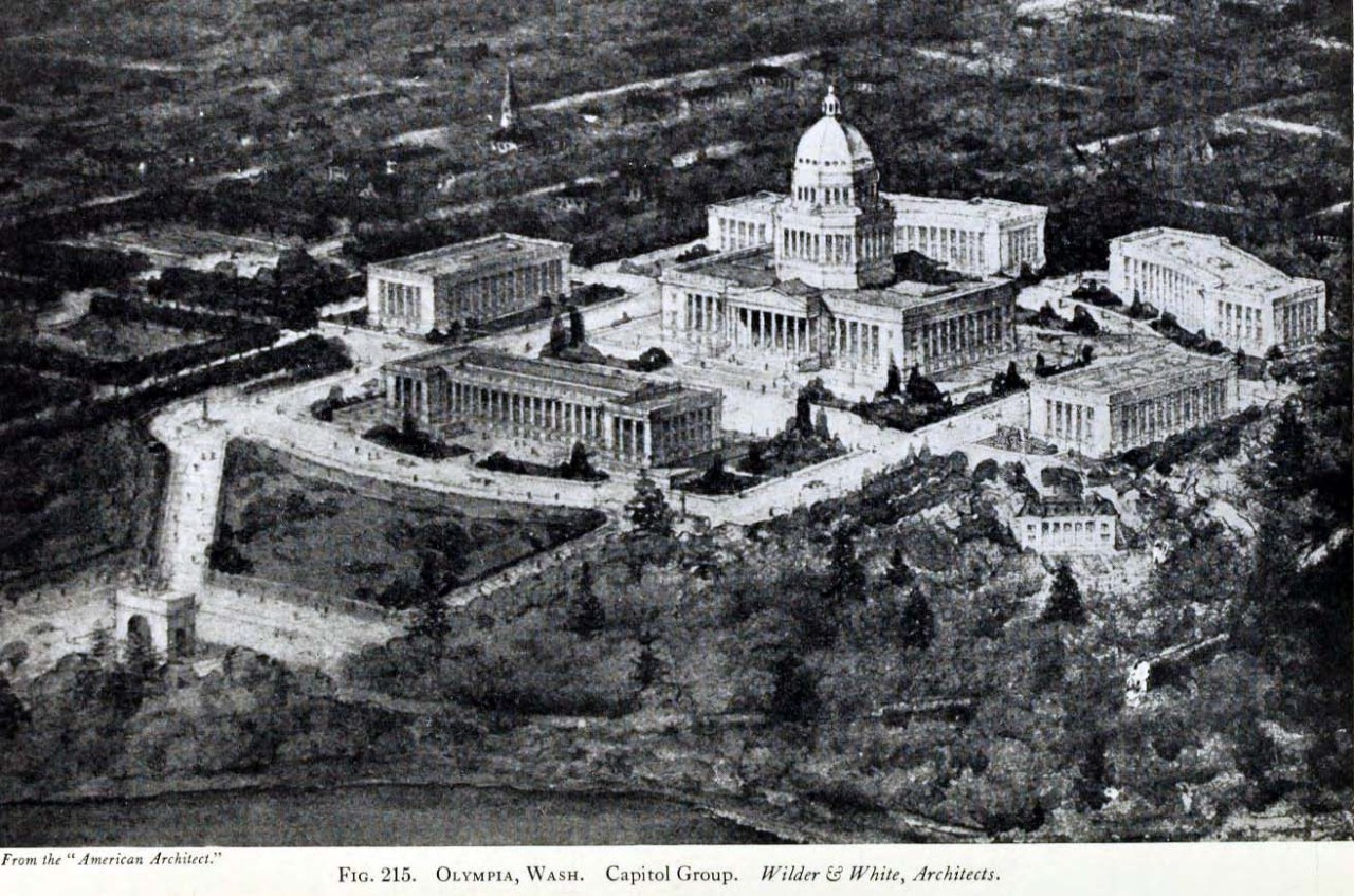 A proposed capitol group for Olympia, Washington