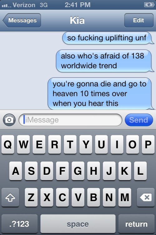 what I spam my best friend with while she's in class and can't listen to ASOT hahaha