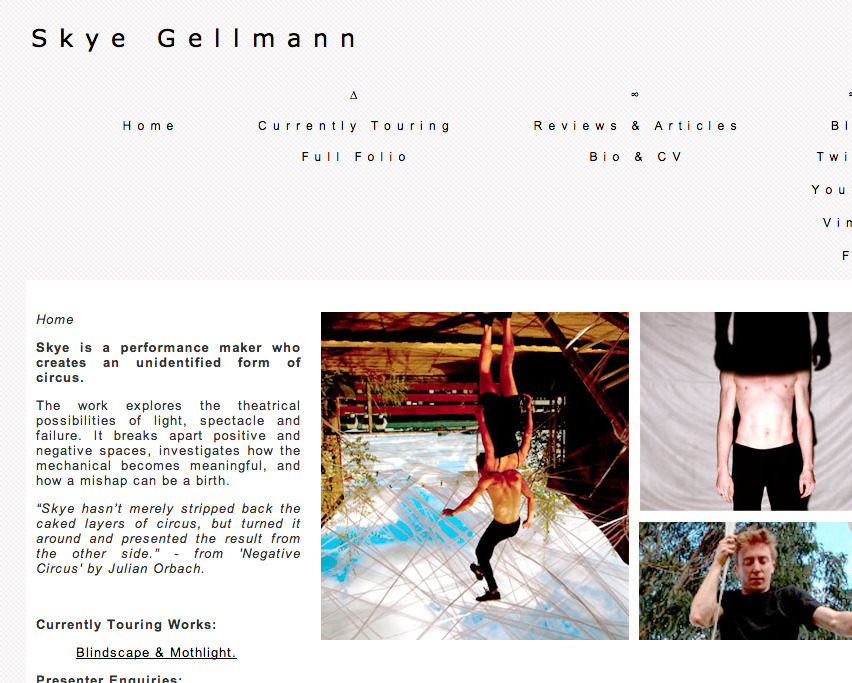 All new website for my work! Have a look and a nice day: WWW.SKYEGELLMANN.COM