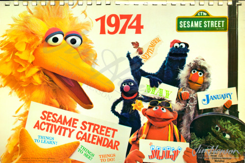Cover for the 1974 Sesame Street Activity Calendar.