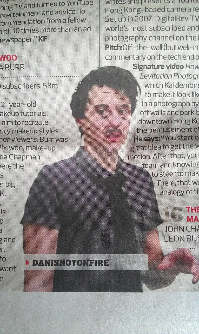 danisnotonfire:  nia-vs-the-universe:  The picture they used for Dan is just brilliant  THIS WAS IN THE GUARDIAN?!? what is m ylifeedit: omfg